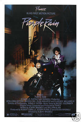 Rock: Prince * Purple Rain * USA Movie Poster 1984 Large Format 24x36