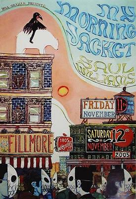 My Morning Jacket Saul Williams Fillmore Concert Poster