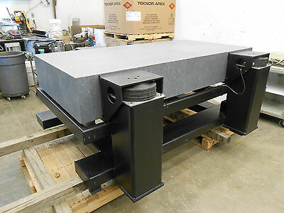2000 x 1000 x 300mm GRANITE ANTI-VIBRATION TABLE WITH 4 BARRY SLM-24A 2400lb