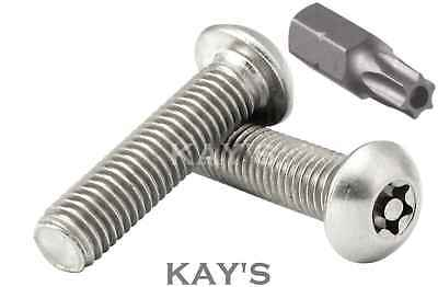 Torx Button Head Security Bolts, Anti Vandal Screws M3 M4 M5 M6 M8 M10 Stainless