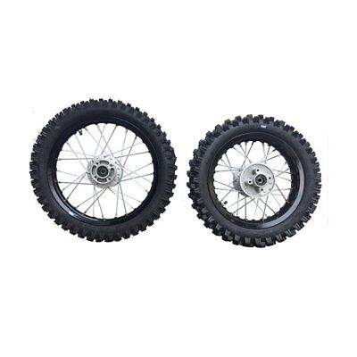 HMParts Dirt Bike Cross Pit Bike  Alu Felgen SET Eloxiert 12/14