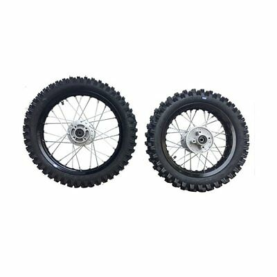 HMParts Dirt Cross Pit Bike  Alu -Felgen -SET -Eloxiert 12/14