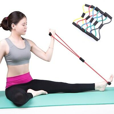 8 Shape Yoga Pull Rope Tube Sport Gym Exercise Elastic Training Resistance Band