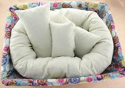 US Baby Newborn Photography Basket Filler Wheat Donut Posing Props Baby Pillow