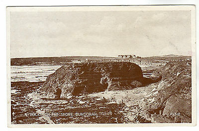 Rocks On The Shore - Bundoran Photo Postcard c1920s / Sligo
