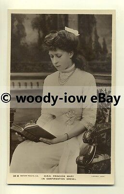 r0095 - Princess Mary in Confirmation Dress daughter of King George V - postcard