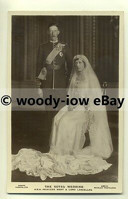 r0109 - Princess Mary on her Wedding Day , daughter of King George V - postcard