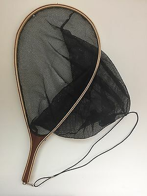 Trout Fishing Landing net with Elasticated Lanyard Best Quality laminated wood