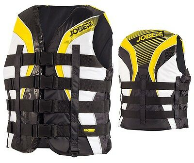 Jobe Progress 4 Buckle Vest Yellow Lifejacket Bootsweste Water Ski Vest j16
