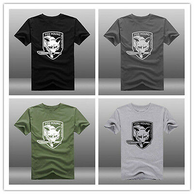 MGS Metal Gear Solid V 5 The Phantom Pain Fox Hound Logo Short Sleeve T-shirts #