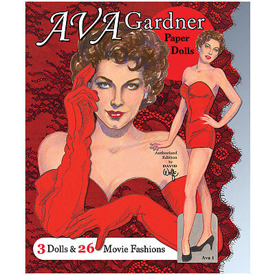 NEW Ava Gardner Paper Dolls - 3 Dolls And 26 Beautiful Movie Fashion Costumes