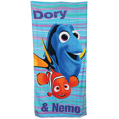 NEW Finding Dory Towel Featuring Dory And Nemo For Beach Pool Or Bathtime Fun