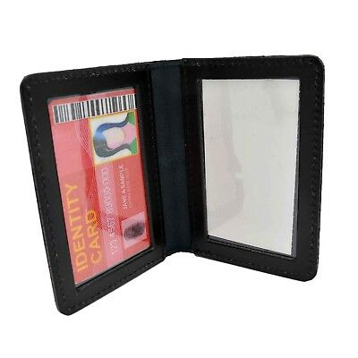 Perfect Fit Dual Double ID License Card Permit Duty Leather Case Wallet Carrier