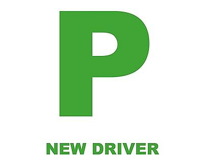 2 x Green Fully Magnetic Learner Driver P Plates Just Passed Provisional  NEW