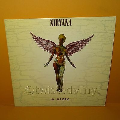 "1993 Geffen Records Nirvana - In Utero 12"" Lp Album Transparent Vinyl European"