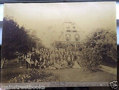 1892 PIANO MAKERS PHOTOGRAPH Bayswater, Far Rockaway, Long Island NY KURTZ HOME