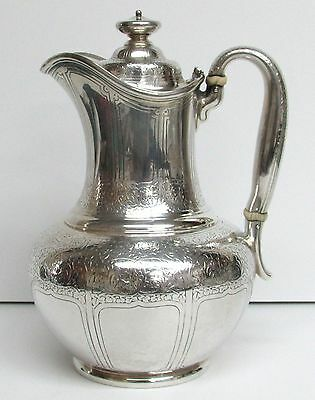 1881 Tiffany & Co Sterling Silver Acid Etched Vines Milk Pitcher