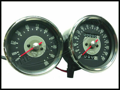Triumph Gray Grey Face Face Speedo Tach Speedometer Tachometer Smiths Type