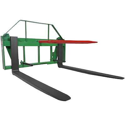 "Titan 48"" Pallet Fork Hay Bale Spear Attachment Fits John Deere Global Euro."