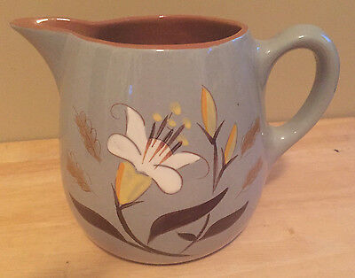 Vintage Stangl Pottery Pitcher Golden Harvest Hand Painted SEC Mid Century