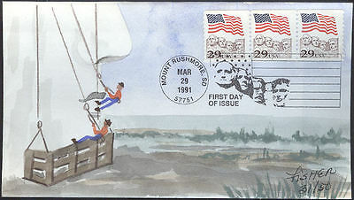 #2523 Flag Over Mt. Rushmore PNC Fisher FDC (19719912523002)