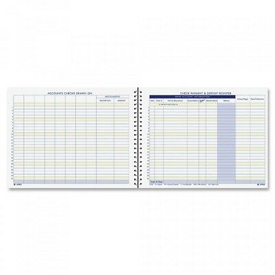 Adams Check Payment and Deposit Register, , 8.5 x 11 Inches, White (AFR60), New