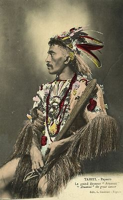 french polynesia, TAHITI, Le Grand Danseur Atuanui, Great Dancer (1910s)