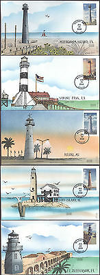 #4409-13 Gulf Coast Lighthouses Geerlings FDC Set (08620094409-13001)