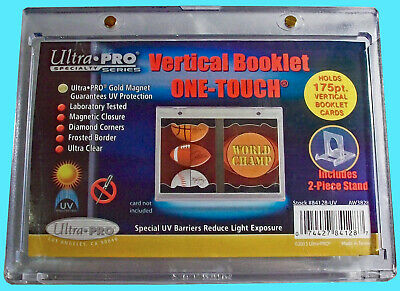 1 Ultra Pro One Touch VERTICAL BOOKLET Magnetic Card Holder w STAND Display Case