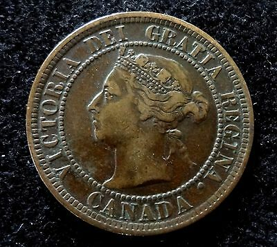 Canada 1888 Large  Cent Coin  One  Cent   #1