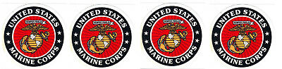 4 Usmc Us Marine Corps High Quality Outside Application 3 Inch Stickers!!