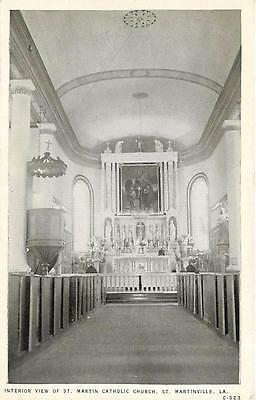 ST. MARTINVILLE, Louisiana  LA   Interior ST. MARTIN CATHOLIC CHURCH    Postcard