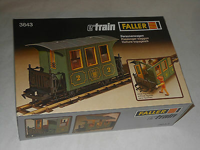 Faller Vintage Eisenbahn - Personenwagen Waggon E Train  - 3643 - Ovp Play Train