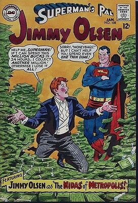 Superman's Pal Jimmy Olsen 108 COVER ART Curt Swan, Jack Adler Color Guide 1967