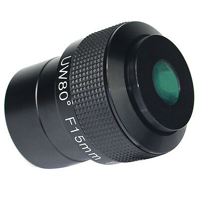 Hot Fully Multi-Coated F15mm Ultra Wide Angle 80 Degree 2'' Telescope Eyepieces