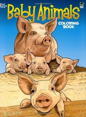 Baby Animals Coloring Book (Dover Coloring Books), New, Free Shipping