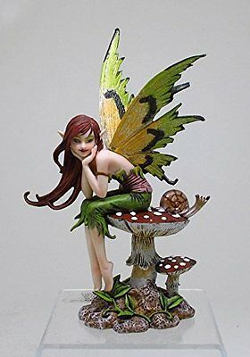 Thinking of You Faery w Snail Fairy Statue Figurine Amy Brown Art  Collection
