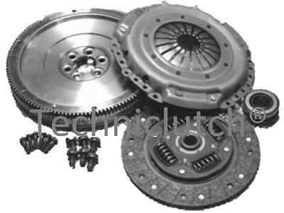 Solid Mass Flywheel & Clutch Kit & Bolts Vw Golf 1.9 Tdi