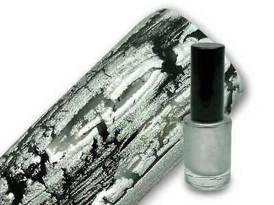 Crackle Lack Crackling Polish Nagellack 5ml in silber