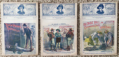 Three 1899 The Deadwood Dick Library Dime Novels Book Story~105397