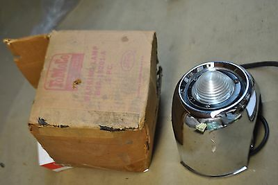 54 Nos Ford Lh Front Turn Signal And Bezel Assy. B4A 13201 Orig. Ford W/box Rare