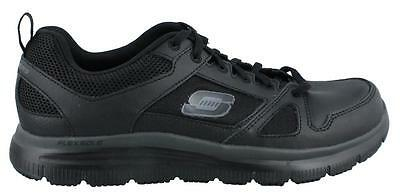 Skechers Flex Advantage Slip Resistant Sneaker Leather Mens Work And Uniform