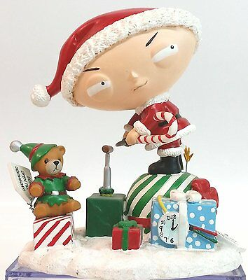 Family Guy Stewie as Santa Claus with Rupert Figure Statue