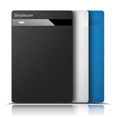 """Tool Free Design 2.5"""" SATAIII HDD SSD to USB 3.0 Hard Drive Enclosure 5Gbps"""