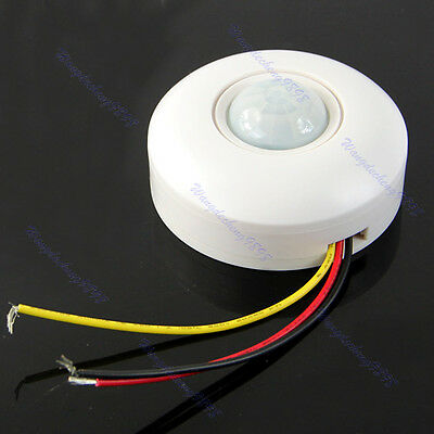 IR Infrared Motion Sensor Lamp Ceiling Wall Automatic Light Control Switch White