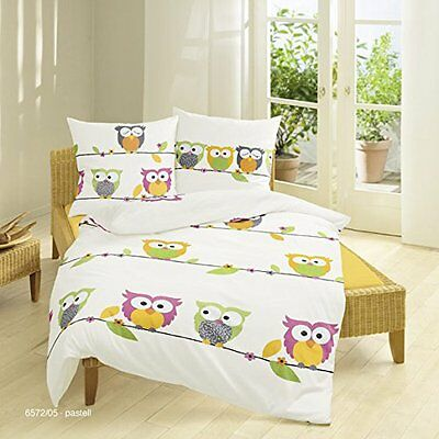 bierbaum kinder bettw sche biber flanell eule owl 80x 80 135x200 eur 29 95 picclick at. Black Bedroom Furniture Sets. Home Design Ideas