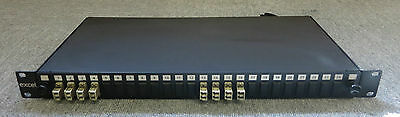 Excel 24 Port LC Loaded Fibre Modules Patch Panel 1U/19 Rack Mountable Steel Box