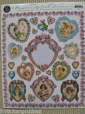 Gifted Line Stickers Hearts Vtg Victorian Women Angels Christmas Cherubs Flowers