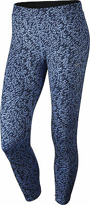 Nike Pronto Essential Cropped Ladies Running Tights - Blue