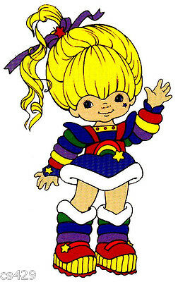 """10.5"""" Large Rainbow Brite  Character Birthday Wall Decor Cut Out"""